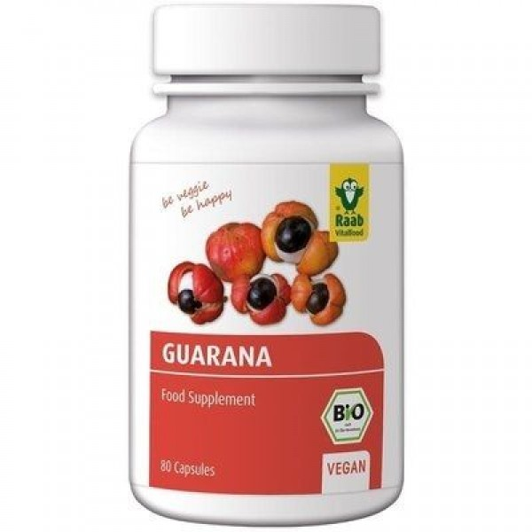 Guarana bio 500mg, 80 capsule vegane