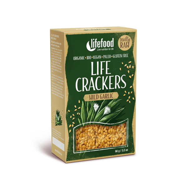 Lifecrackers cu leurda raw bio 90g