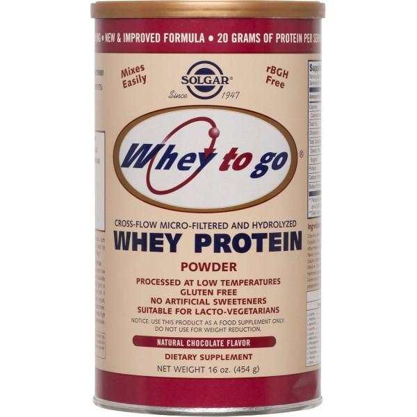 Solgar Whey to Go® Protein Chocolate powder 454gr