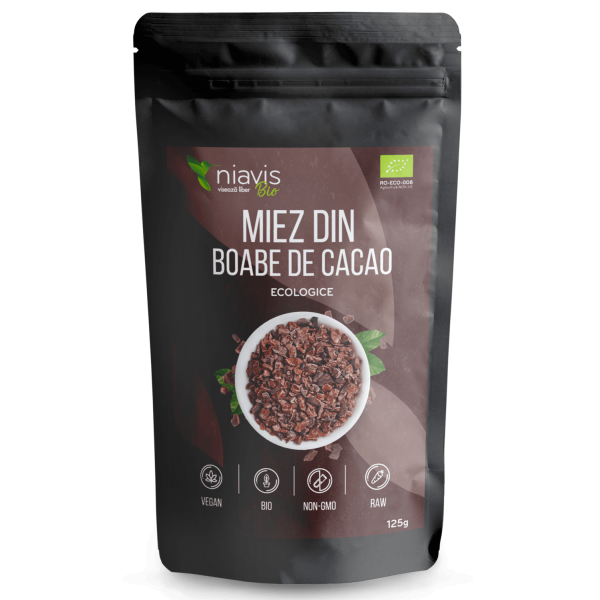 Niavis Miez din Boabe de Cacao Ecologice/BIO 125g