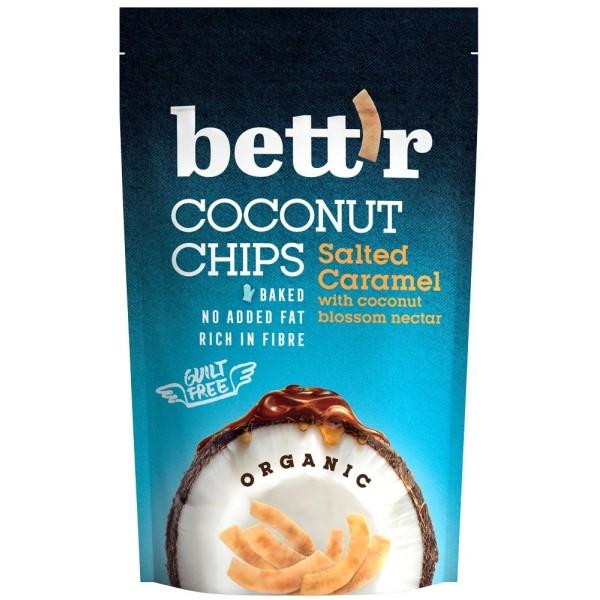 Chips de cocos si caramel sarat bio 70g Bettr