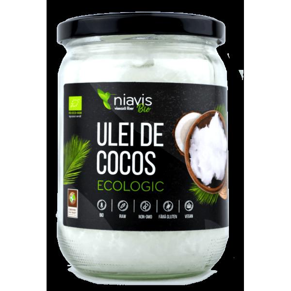 Niavis Ulei de Cocos Extra Virgin Ecologic/BIO 450g/565ml