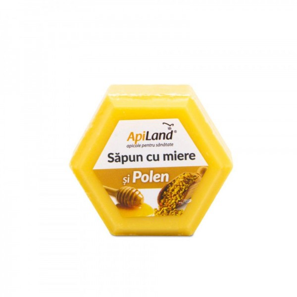 Apiland Săpun cu miere și polen 100g
