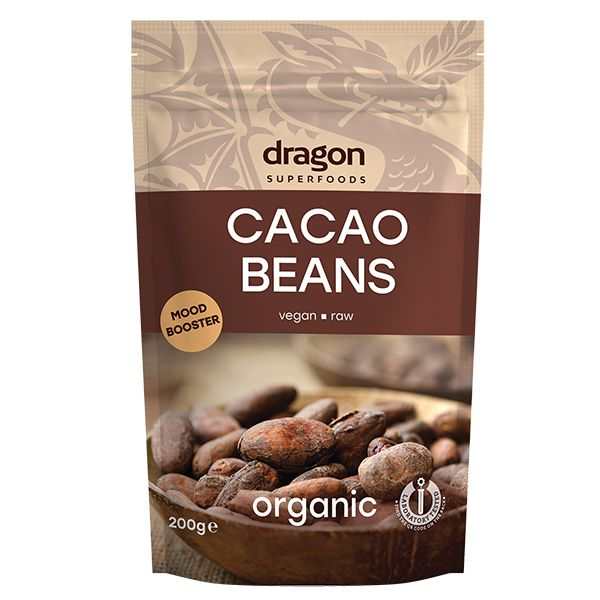 Boabe de cacao intregi bio 200g