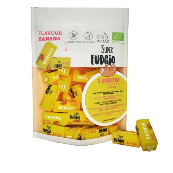 Caramele bio - aroma banane 150g Super Fudgio
