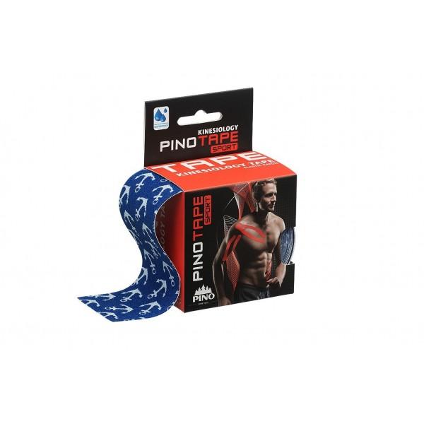 Banda Kinesio PINOTAPE® Sport - Albastru cu ancore