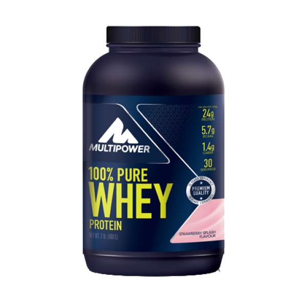 100% Pure Whey Protein - 900g - Strawberry Multipower