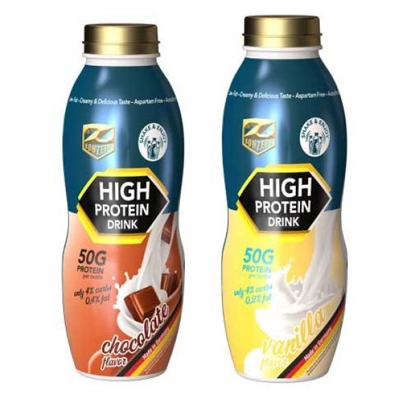 High Protein Drink 500ml - 50g proteina Vanilie