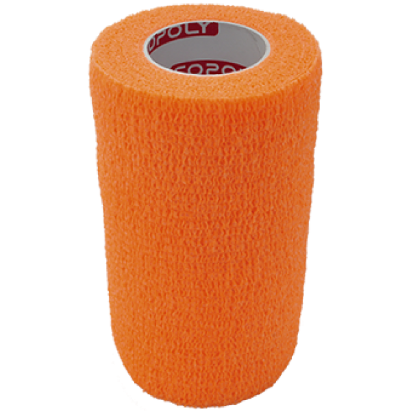 Bandaj elastic autoadeziv 10cm - Portocaliu