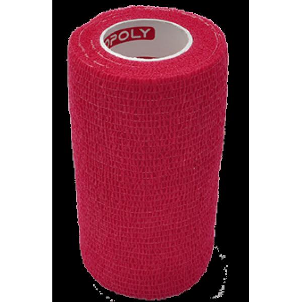 Bandaj elastic autoadeziv 10cm - Rosu