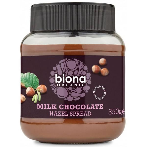 Crema de ciocolata cu lapte si alune de padure bio 350g