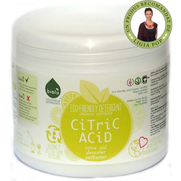 Biolù Acid citric ecologic pentru rufe 450g