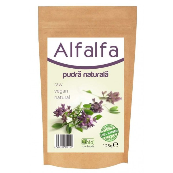 Alfalfa (lucerna) pulbere raw 125g