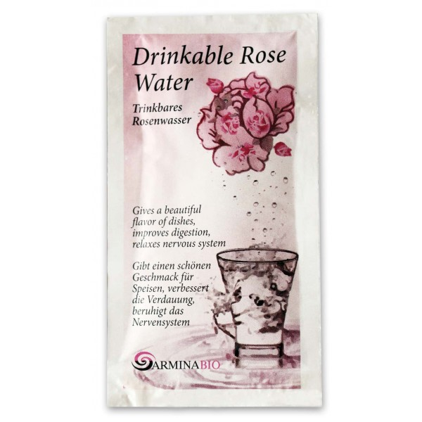 Apa de trandafir pentru baut in pliculete bio 11ml