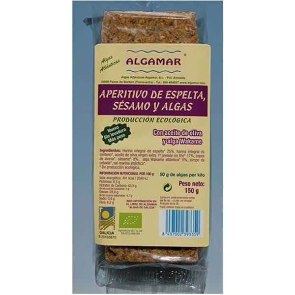 Aperitiv din spelta cu alge si susan bio 150g