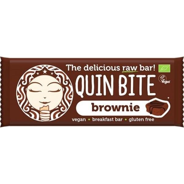Baton Brownie raw bio 30g Quin Bite