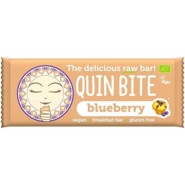 Baton cu afine raw bio 30g Quin Bite