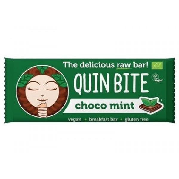 Baton cu ciocolata si menta raw bio 30g