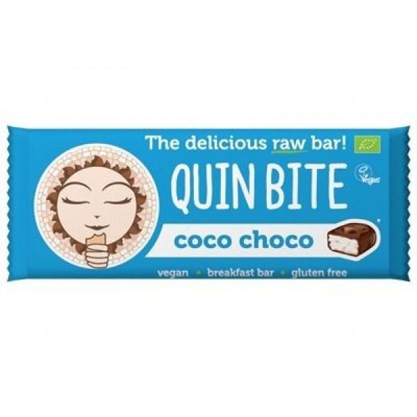 Baton cu cocos si ciocolata raw bio 30g