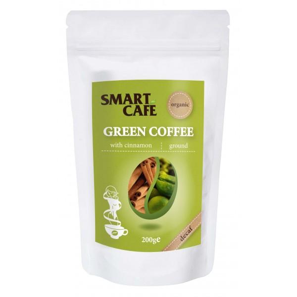 Cafea verde macinată decofeinizată cu scortisoară bio 200g