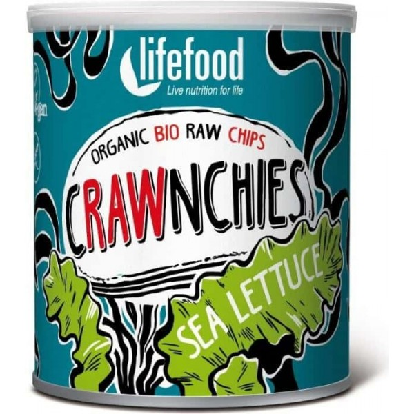 Chips Crawnchies cu sea lettuce (alge) raw bio 30g