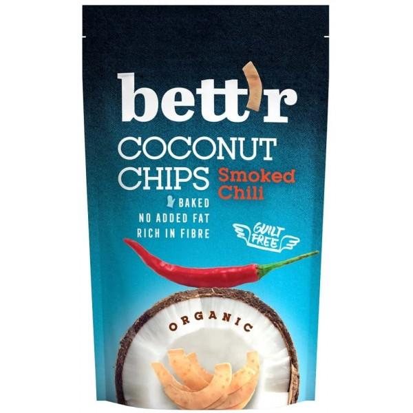 Chips de cocos cu chilli bio 70g Bettr