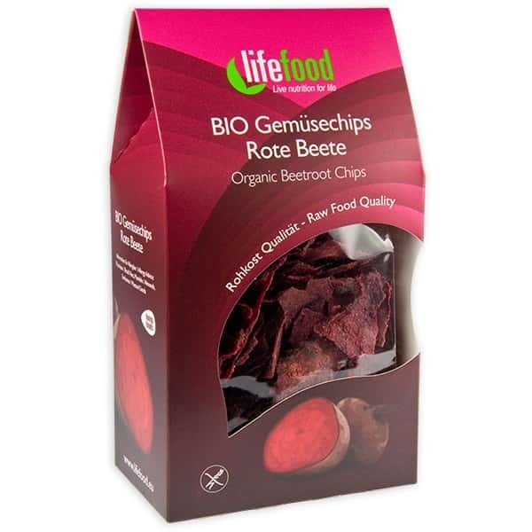 Chips din sfecla rosie raw bio 60g
