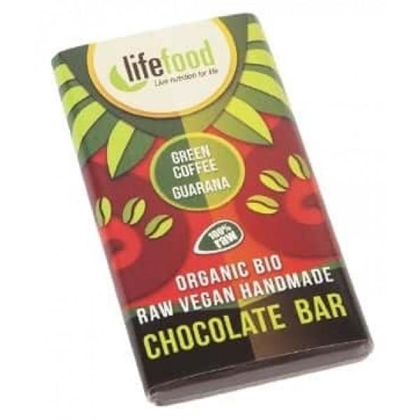 Ciocolata MINI cu guarana si cafea verde raw bio 15g