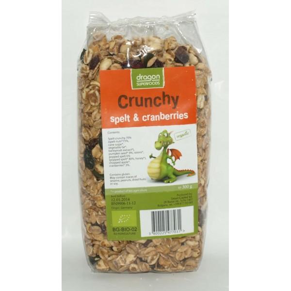 Crunchy cu spelta si merisor bio 300g