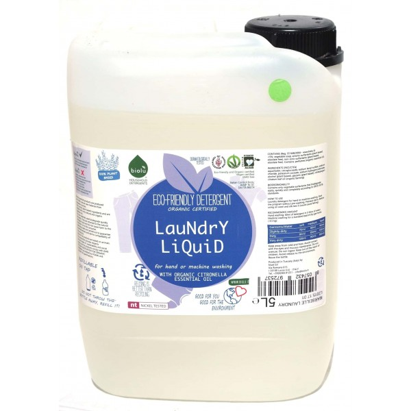 Biolu Detergent ecologic lichid pentru rufe albe si colorate lămaie 5L