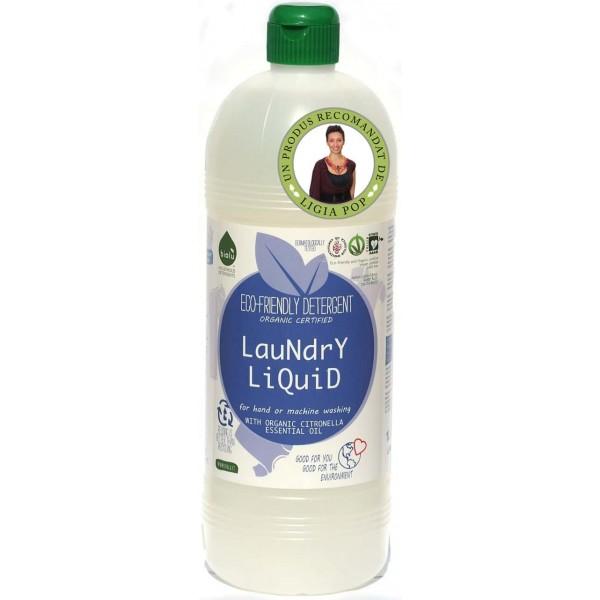 Biolu Detergent ecologic lichid pentru rufe albe si colorate lamaie 1L