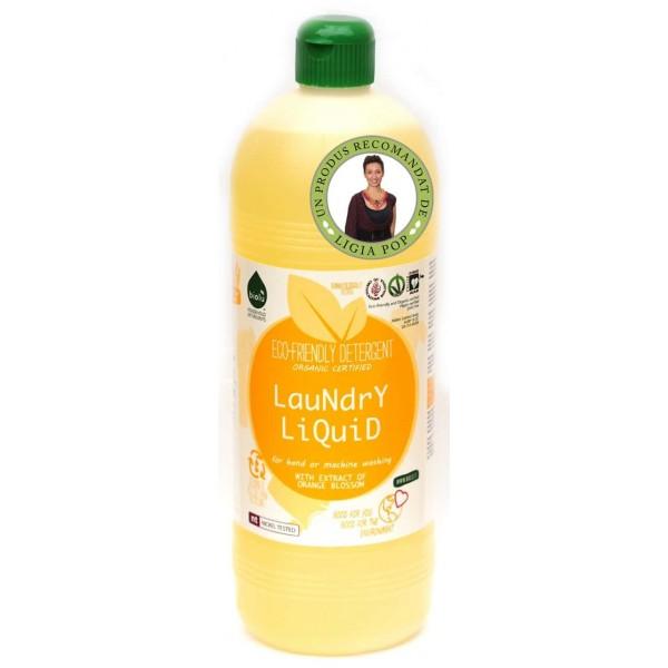 Biolu Detergent ecologic lichid pentru rufe albe si colorate portocale 1L