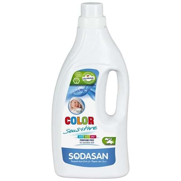 Sodasan Detergent ecologic lichid pentru rufe albe si colorate sensitiv 1.5L