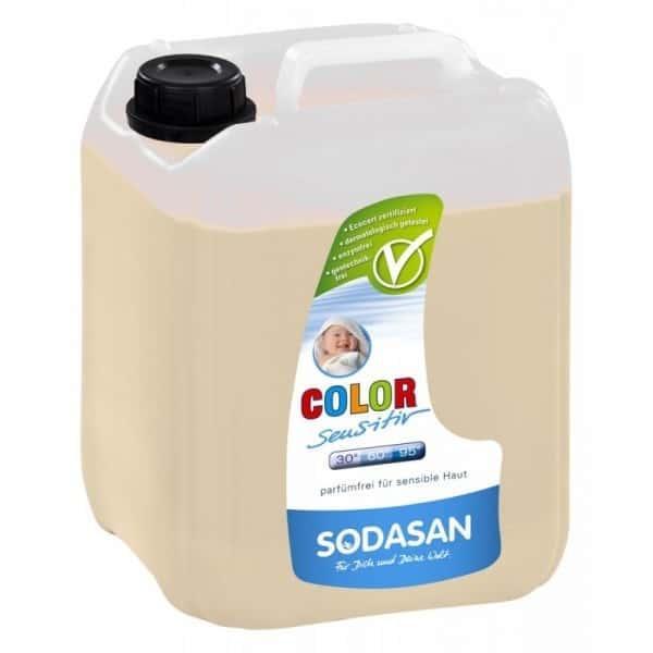 Sodasan Detergent ecologic lichid pentru rufe albe si colorate sensitiv 5L