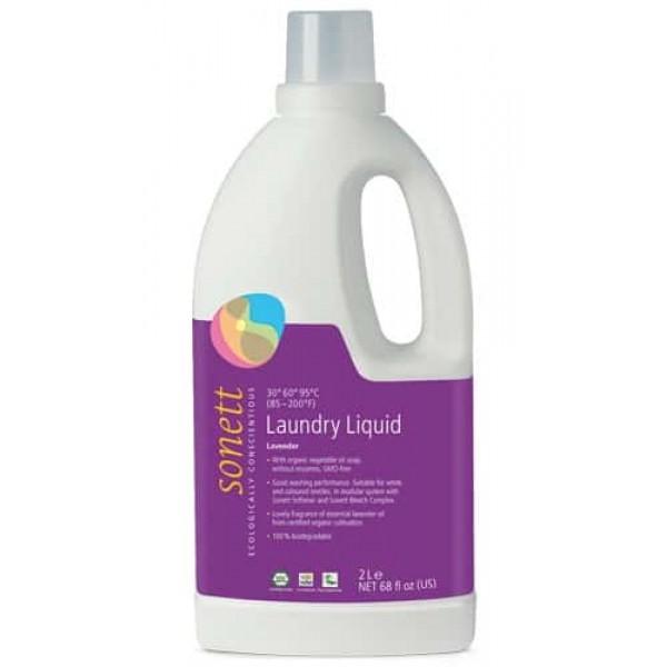 Sonett Detergent ecologic lichid pt. rufe albe si colorate cu lavanda 2L