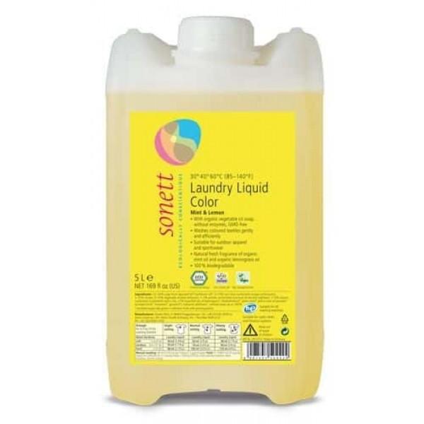 Sonett Detergent ecologic lichid pt. rufe colorate 5L