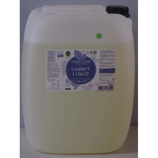 Detergent ecologic lichid vrac pentru rufe albe si colorate lamaie 20L