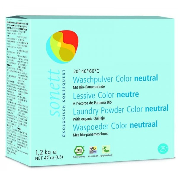Sonett Detergent ecologic praf pt. rufe colorate, SENSITIVE 1.2 kg