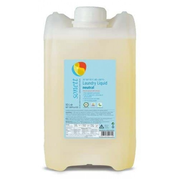 Sonett Detergent ecologic pt. rufe albe si colorate, SENSITIVE 10L