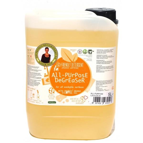 Detergent ecologic universal cu ulei de portocale 5L