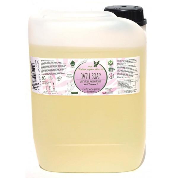 Gel de dus ecologic cu ylang ylang si vitamina E bidon 5L