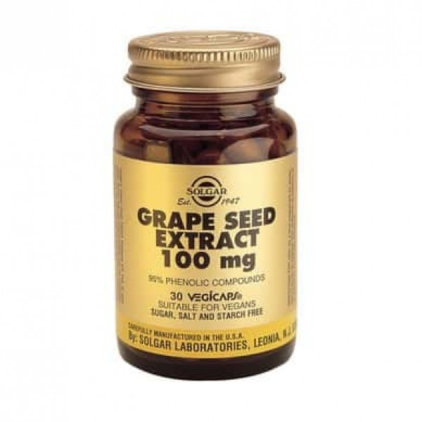 Solgar Extract din semințe de struguri / Grape Seed Extract 100mg 30 cps