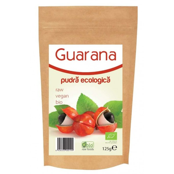 Guarana pulbera raw bio 125g