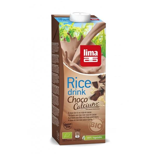 Lapte de orez cu ciocolata + soia si calciu bio 1L