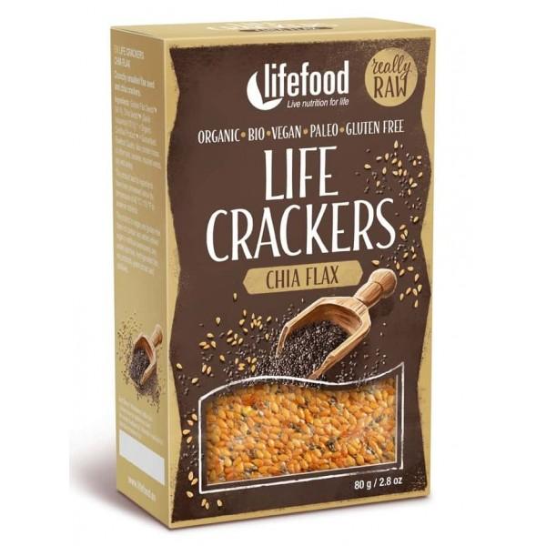 Lifecrackers cu chia si in raw bio 80g
