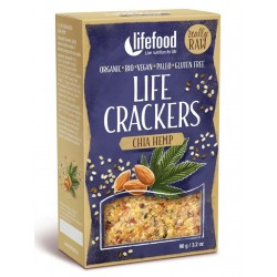 Lifecrackers raw cu seminte de chia si canepa bio 90g