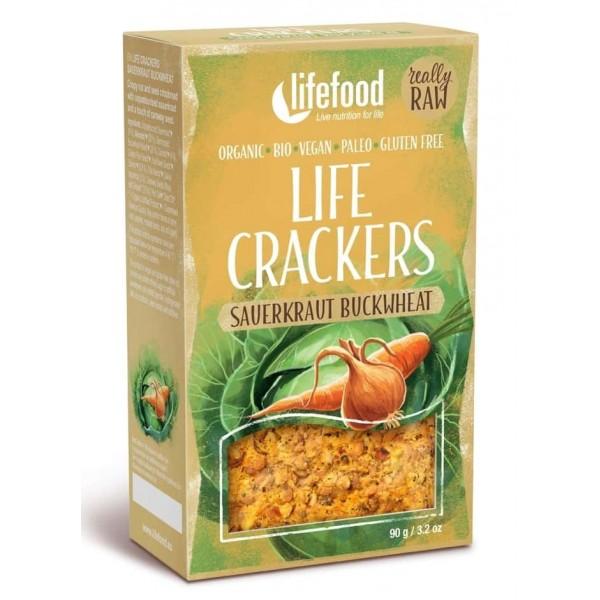 Lifecrackers raw cu varza murata bio 90g