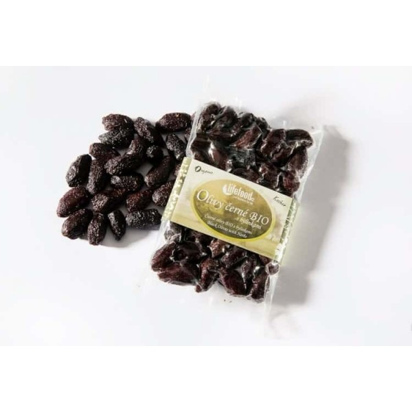 Măsline negre Botija cu sâmburi si ierburi raw bio 150g