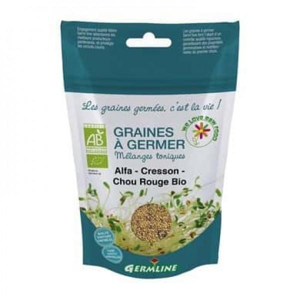Mix alfalfa creson si varza rosie pt. germinat bio 150g