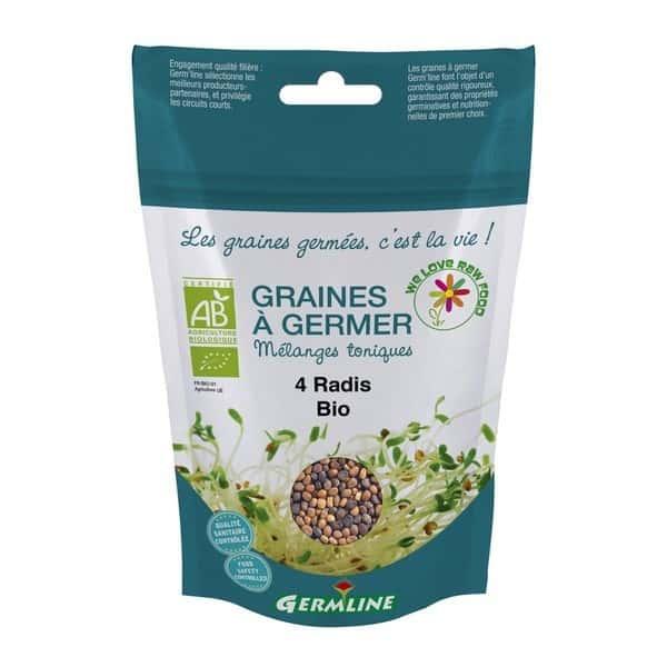 Mix din 4 tipuri de ridichi pt. germinat bio 100g